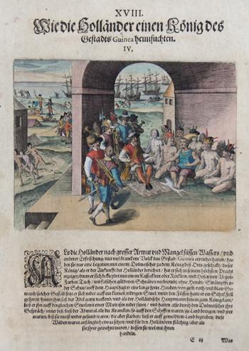 Bry, de Theodor, Dietrich Wie die Holländer einen König des Gestadts Guinea heimsuchten