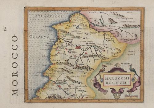 Hondius/Sparke Joducus Morocco / Marocchi regnum