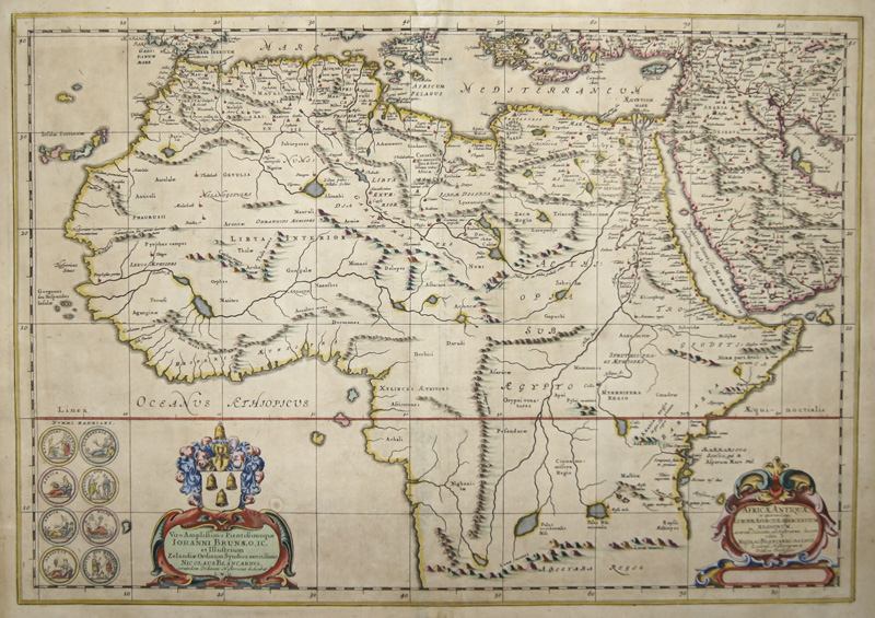 Janssonius  Africae Antiquae, et quarundam Euopae, Asiaque Adijacentium regionum..