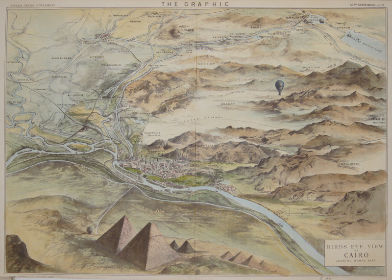Maclure & Macdonald  Birds eye view of Cairo looking north east