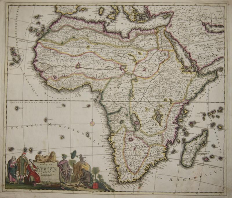 Danckerts  Novissima et perfectissima Africae descriptio..