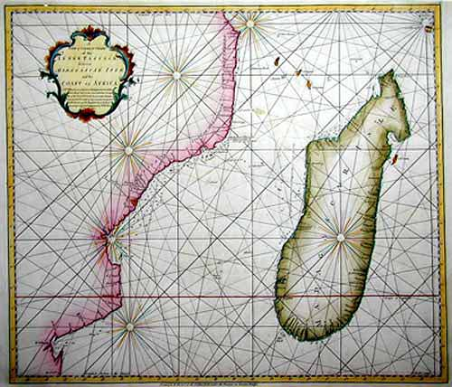 Herbert/ Rolos  A new & correct chart of the inner passage between Madagascar Isle and the Coast of Africa