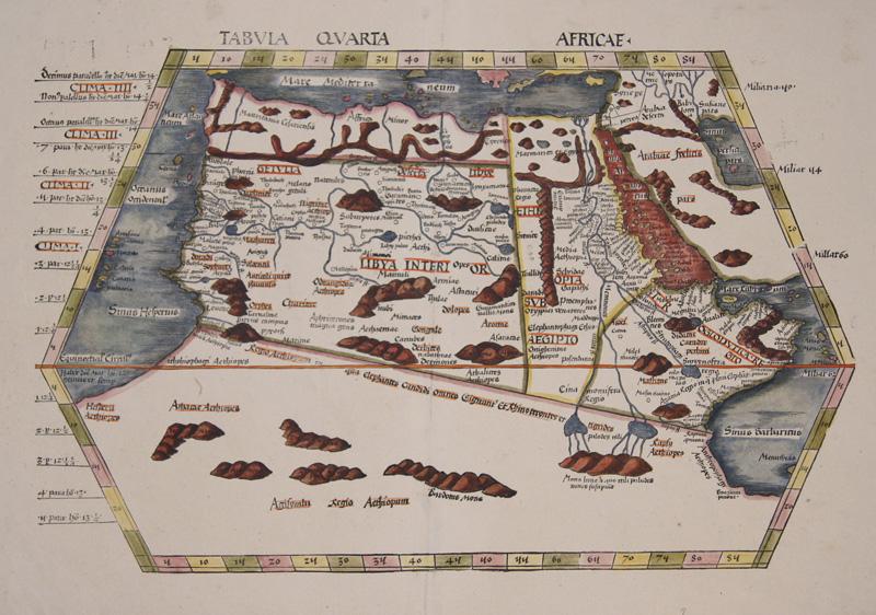 Ptolemy/Waldseemüller- Johann Schott  Tabula Quarta Africae