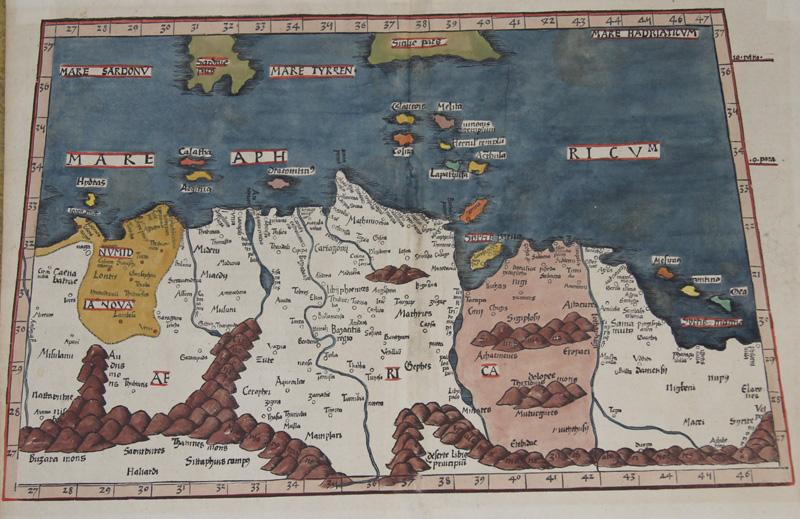 Ptolemy/Waldseemüller- Johann Schott Claudius Aphricae Tabula secunda continent