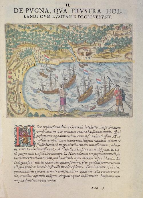 Bry, de Johann Israel & Johann Theodor De Pugna, qua frustra Hollandi cum Lusitanis decreverunt. Princen Insel