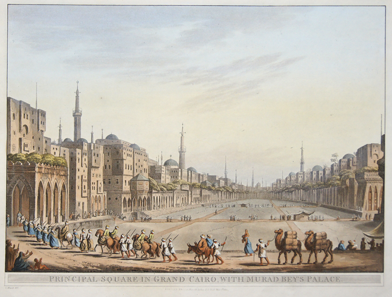 Mayer C. Principal Square in grand Cairo, with Murad Bey's Palace.