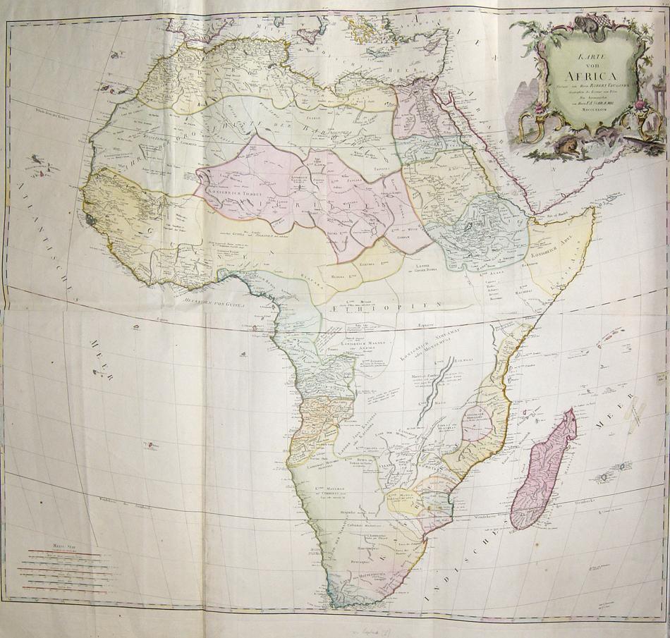 Schraembl/ Vaugondy Robert  Karte von Africa Verfasst von Herrn Robert Vaugondy Geographen des Koenigs von Polen Neu herausgegeben von Herrn F.A. Schraembl MDCCLXXXVII
