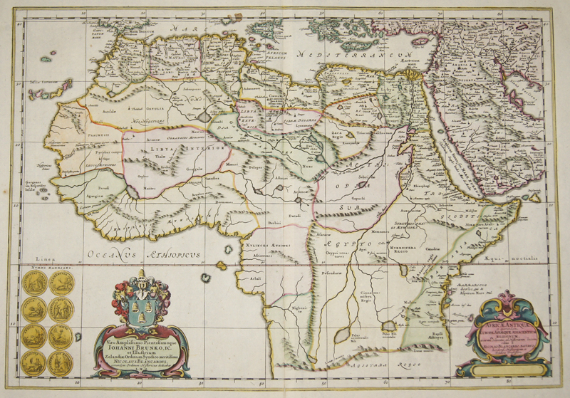 Janssonius  Africae Antiquae, et quarundam. Europae Asiaeque Adiacentium Regionum,..