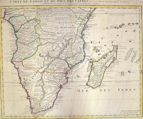 Covens/ Mortier  Carte du Congo et du Pays des Cafres.