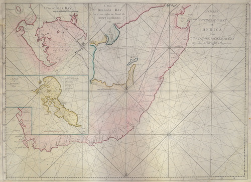 Anonymus  A Chart of the South-East Coast of Africa from C. Good-Hope to Delagoa Bay according to Wright's Projection.