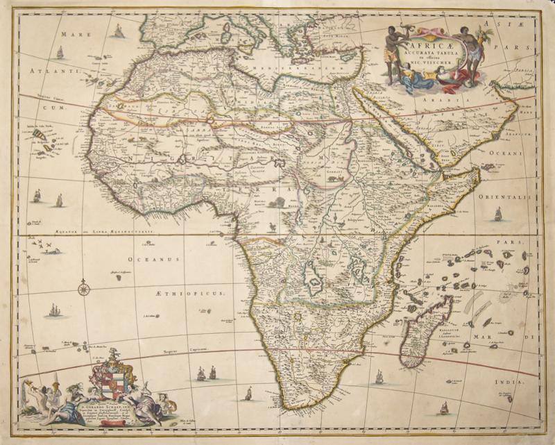 Visscher Nicolas Africae accurata Tabula ex officina Nic. Visscher.