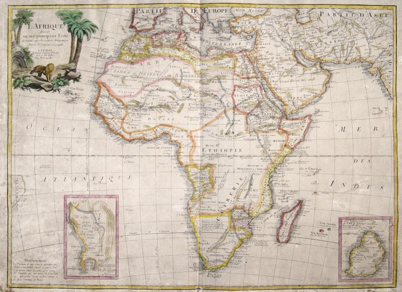 Janvier Sieur  L Afrique divisee en ses principaux Etats Assujettie aux Observariions Astronomique Par le Sr. Janvier