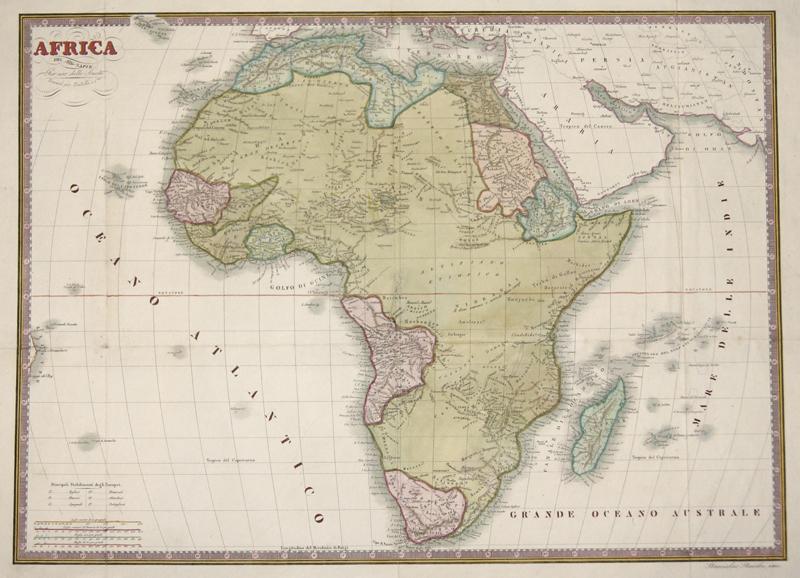 Stucchi Stanislao Africa. Del sig Lapie. Per uso delle Scuole. Firenze per Batelli el