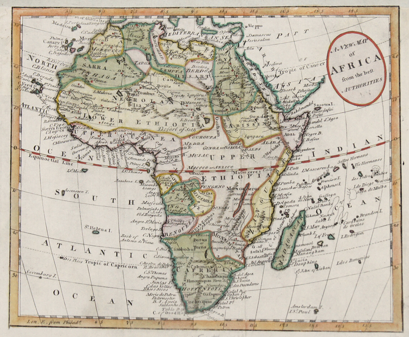 Russell  A new map of Africa from the best Authorities