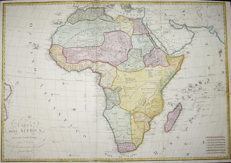 Anonymus  Carta dell Affrica in eisa dalli Fratelli Bordiga.