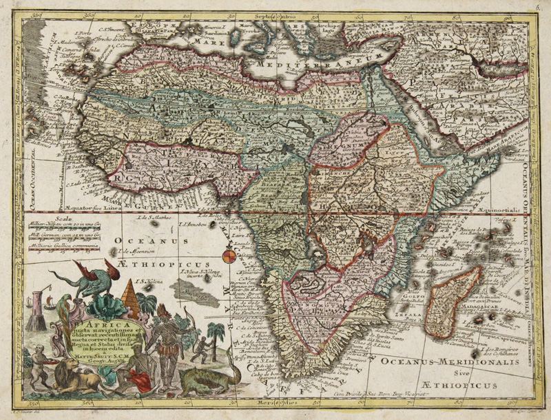 Lotter  Africa juxta navigationes et observat recentissimas aucta correcta..