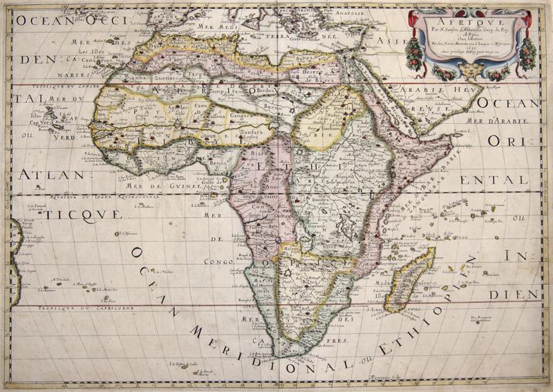 Sanson  Afrique Par N. Sanson d' Abbeville, Geog. du Roy