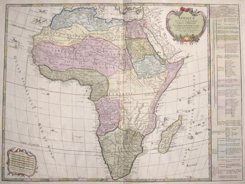 Vaugondy,de Robert Afrique divisee en ses principaux Empires et Royaumes.