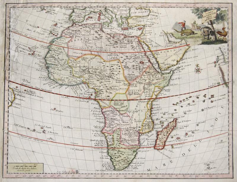Albrizzi  Carta Generale dell Africa