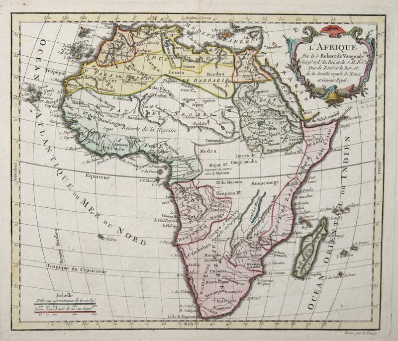 Vaugondy,de Robert L'Afrique Par le S. Robert de Vaugondy