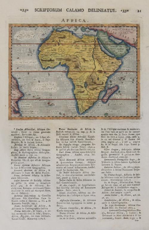 Lasor a Varea Alphonse Africa. Scriptorum calamo delineatus.