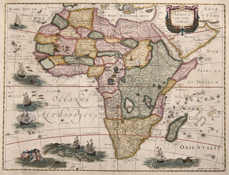 Janssonius/Mercator-Hondius, H.  Africae nova Tabula. Auct: Hen. Hondio.