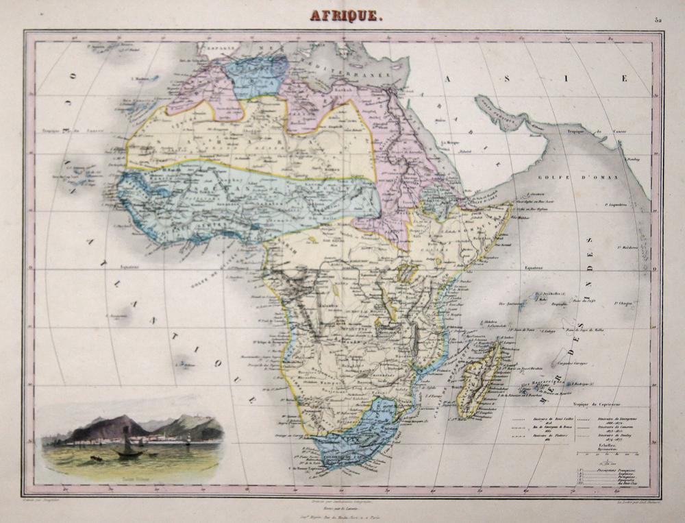 Lemercier / Levasseur  Afrique.