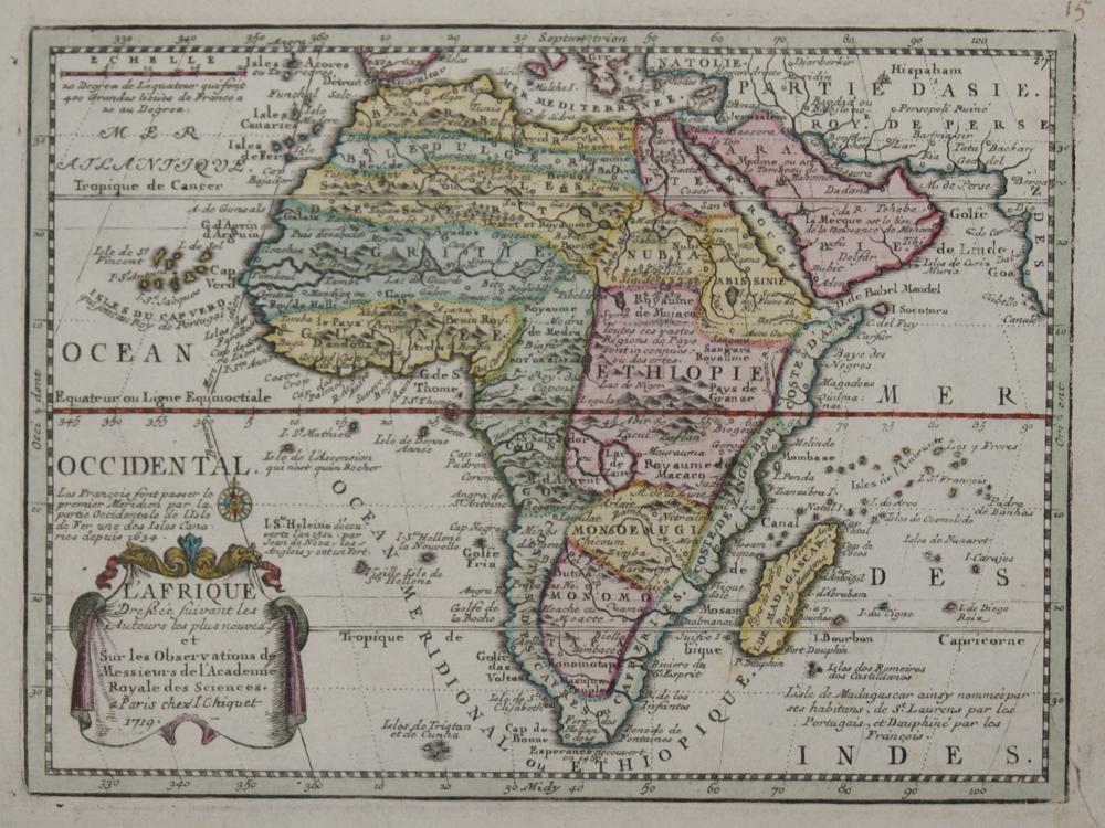 Chiquet Jacques L'Afrique Dreßee suivant les Auteurs les plus nouvea..