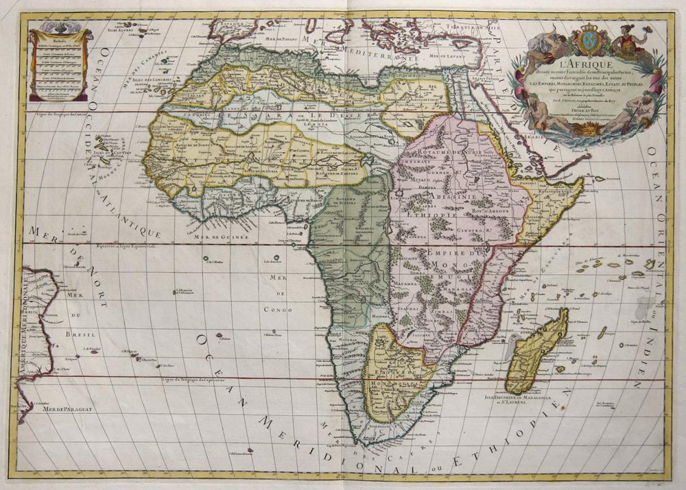 Jaillot/ Sanson Hubert/ Nicolas L'Afrique divisee suivant l'estendüe de ses Principales Parties,..