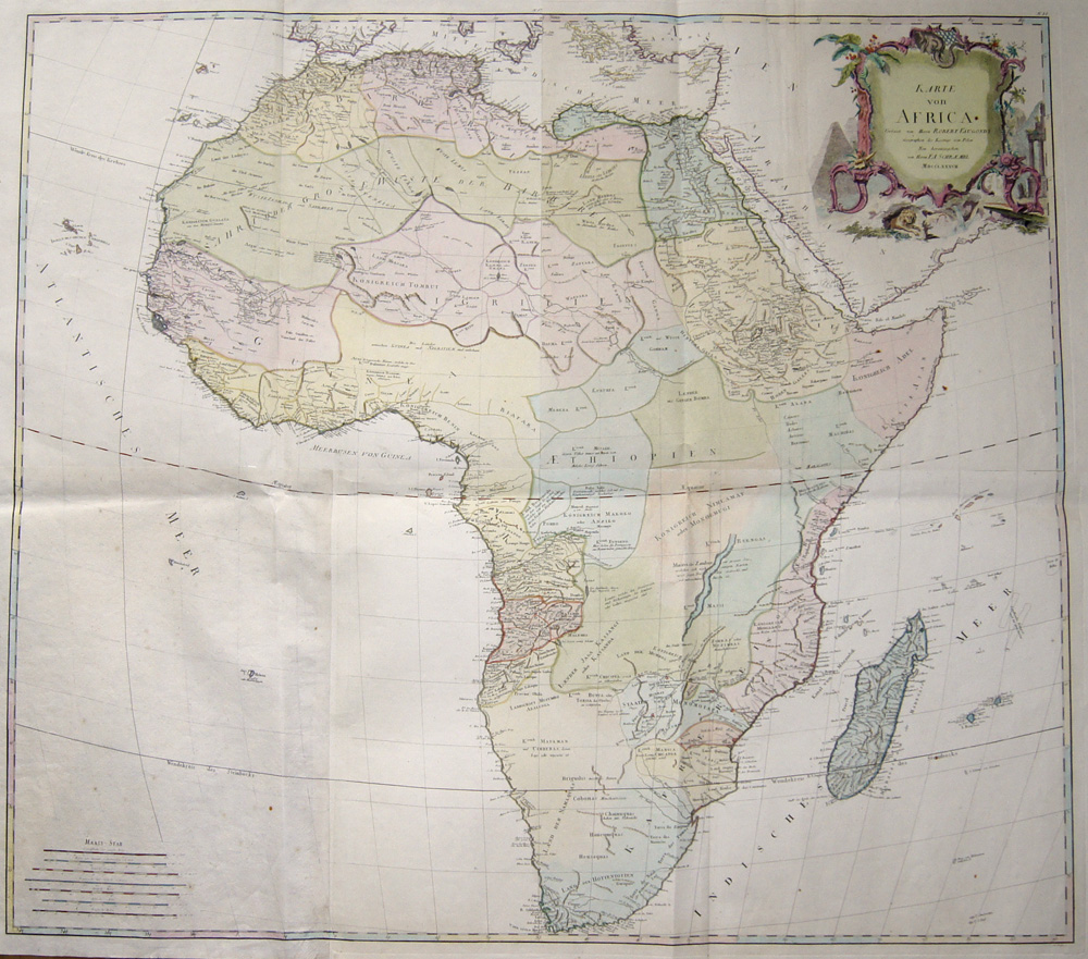 Schraembl/ Vaugondy Robert Franz Anton Karte von Africa Verfasst von Herrn Robert Vaugondy..