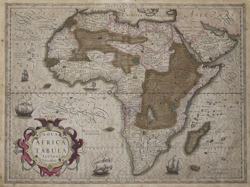 Hondius  Nova Africae Tabula Auctore Jodoco Hondio