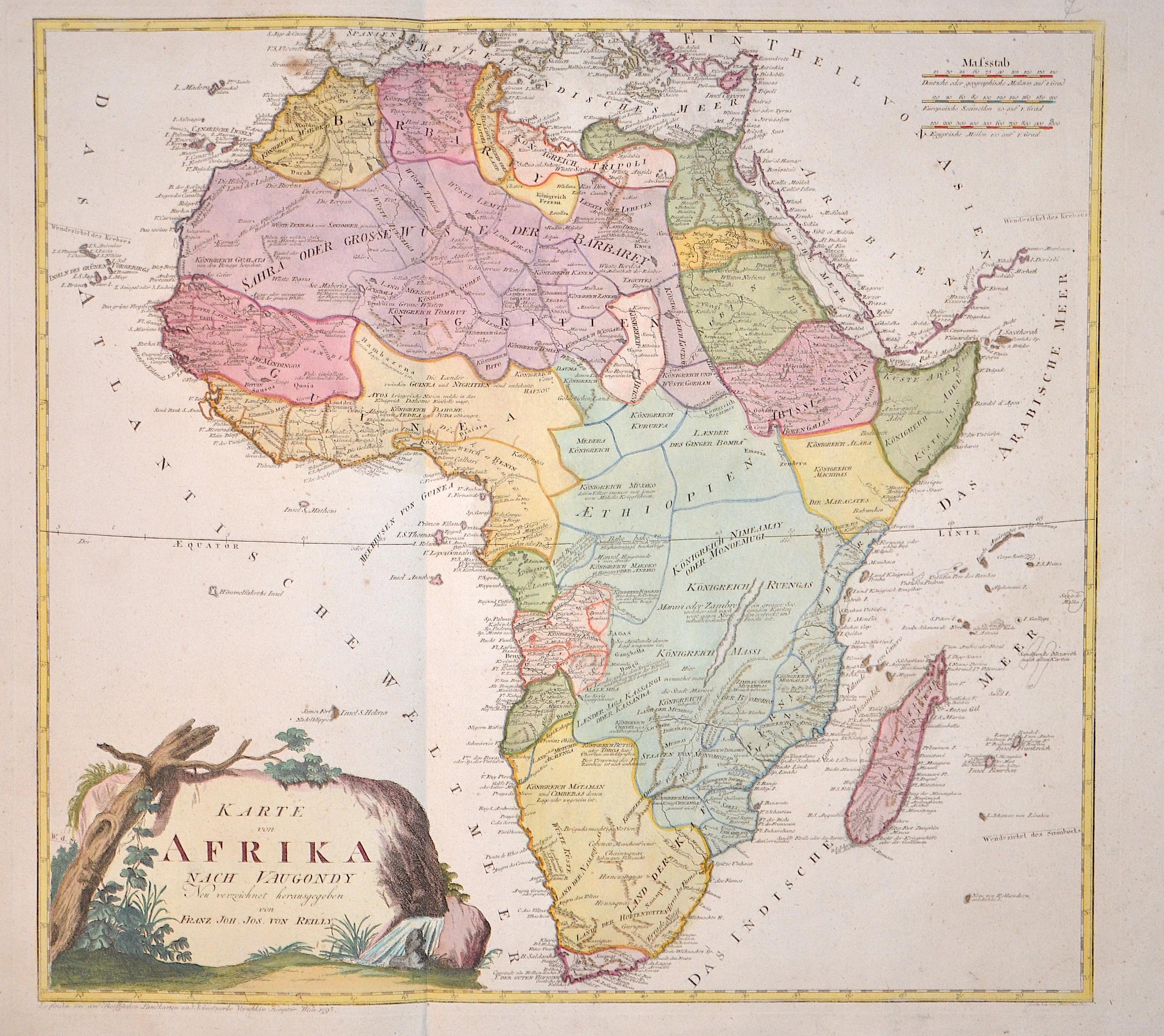 Reilly  Karte von Afrika nach Vaugondy…