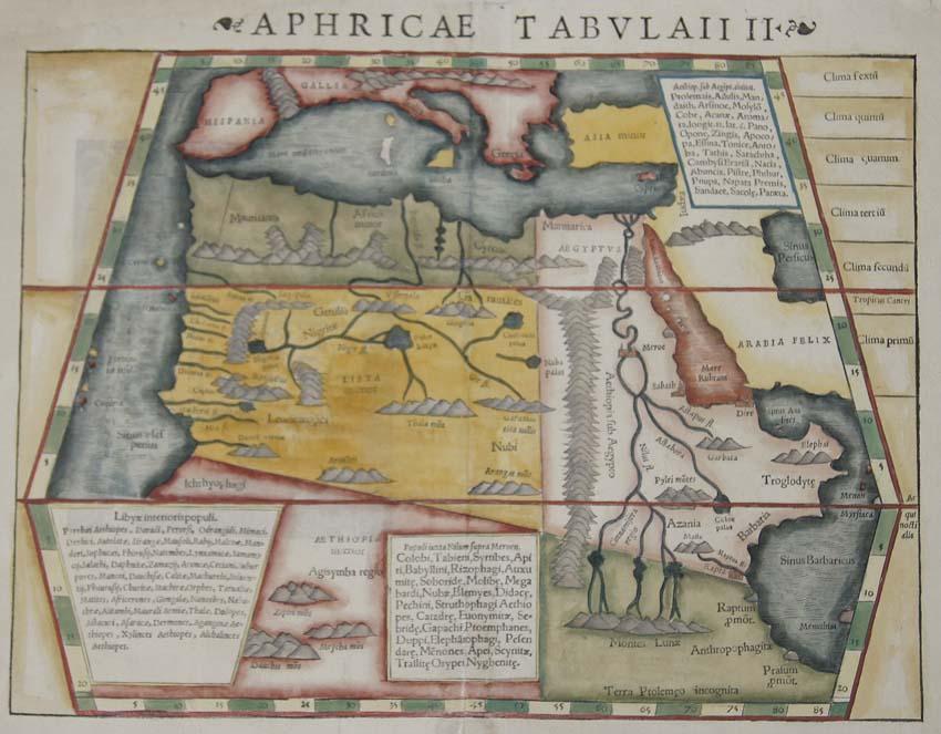 Ptolemy/Münster Sebastian  Aphricae Tabulaii II