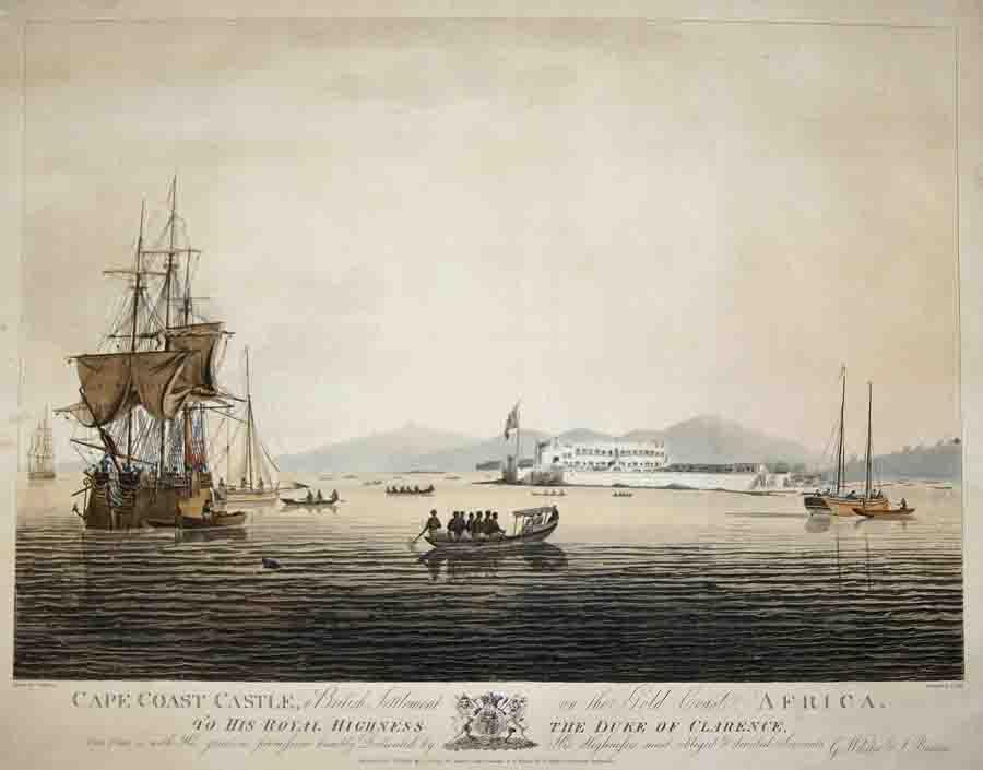 Barrow John Cape Coast Castle, a British Settlement on the Gold Coast Africa.