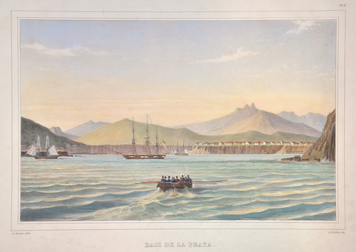 Lemercier / Levasseur  Baie de la Praya. (Ile San Iago.)