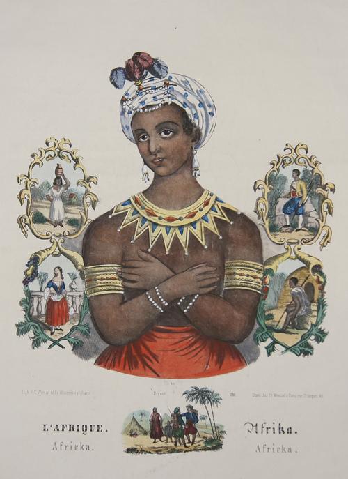Wentzel Frédéric Charles L' Afrique. Afrika. Africka. Africka.