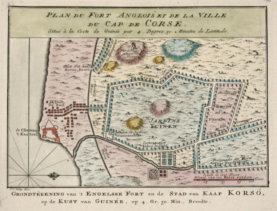 Schley, van der  Plan du Fort Anglois et de la Ville du Cap de Corse.