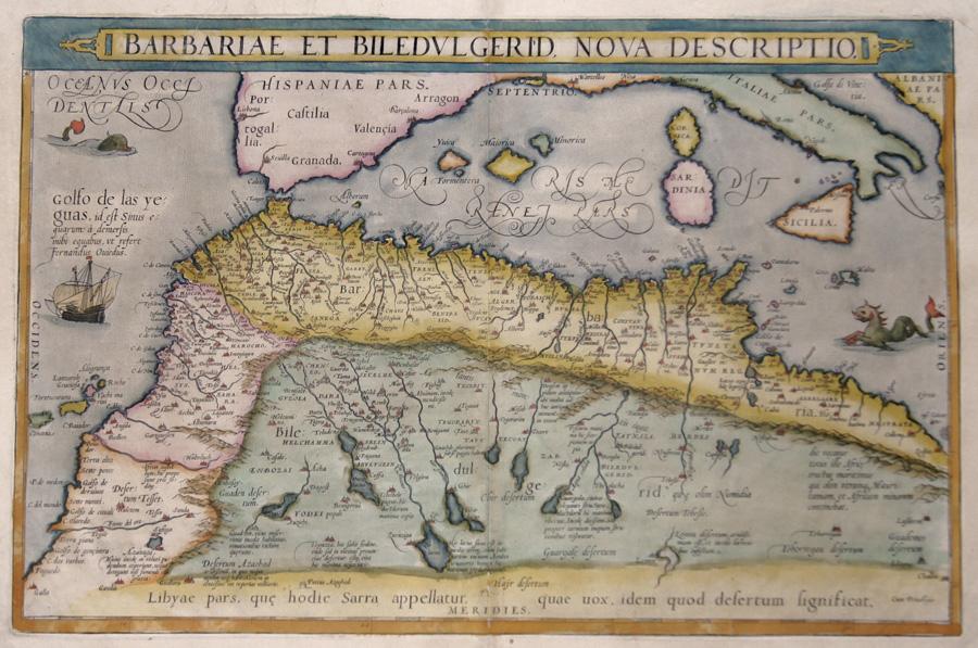 Ortelius  Barbariae et Biledulgerid, nova descriptio.