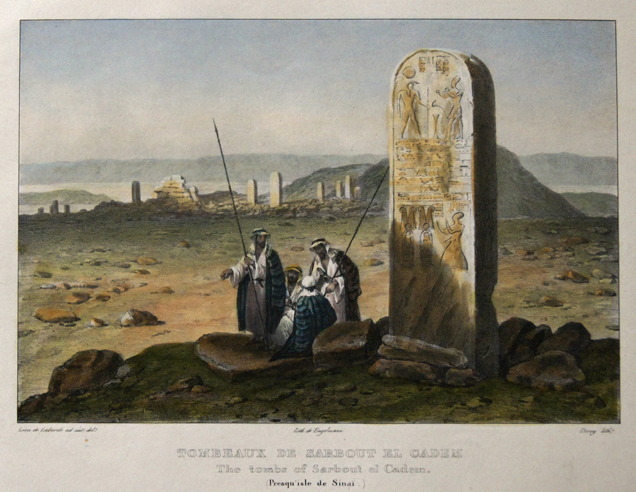 Engelmann  Tombeaux de Sarbout el Cadem. The tombs of Sarbout el Cadem. (Presqu'isle de Sinai.)