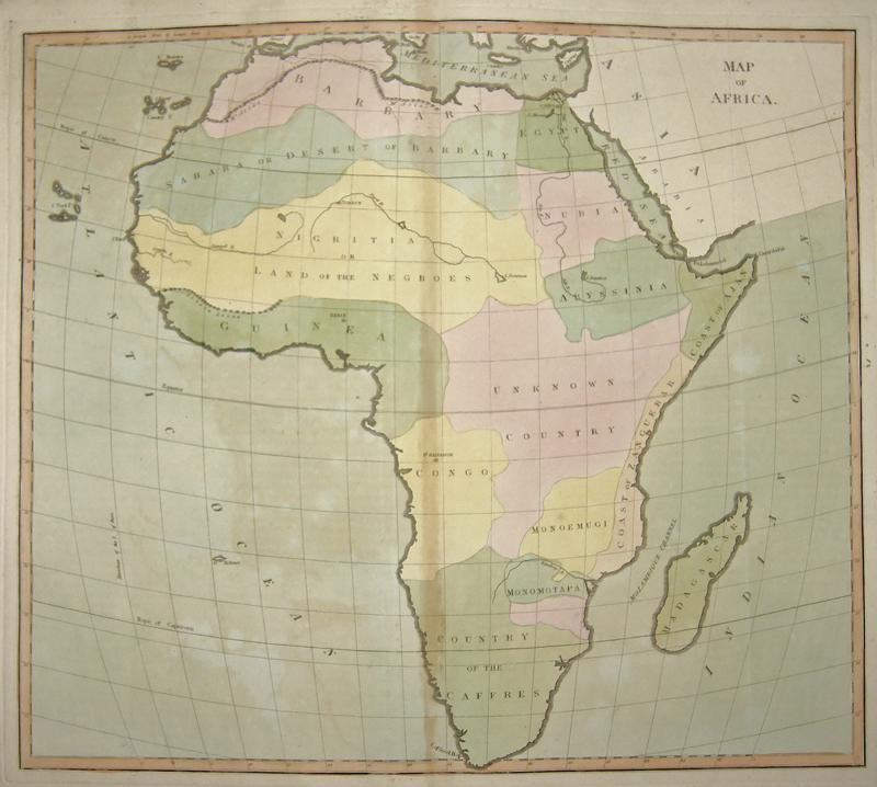 Anville´d Jean Babtiste Map of Africa.