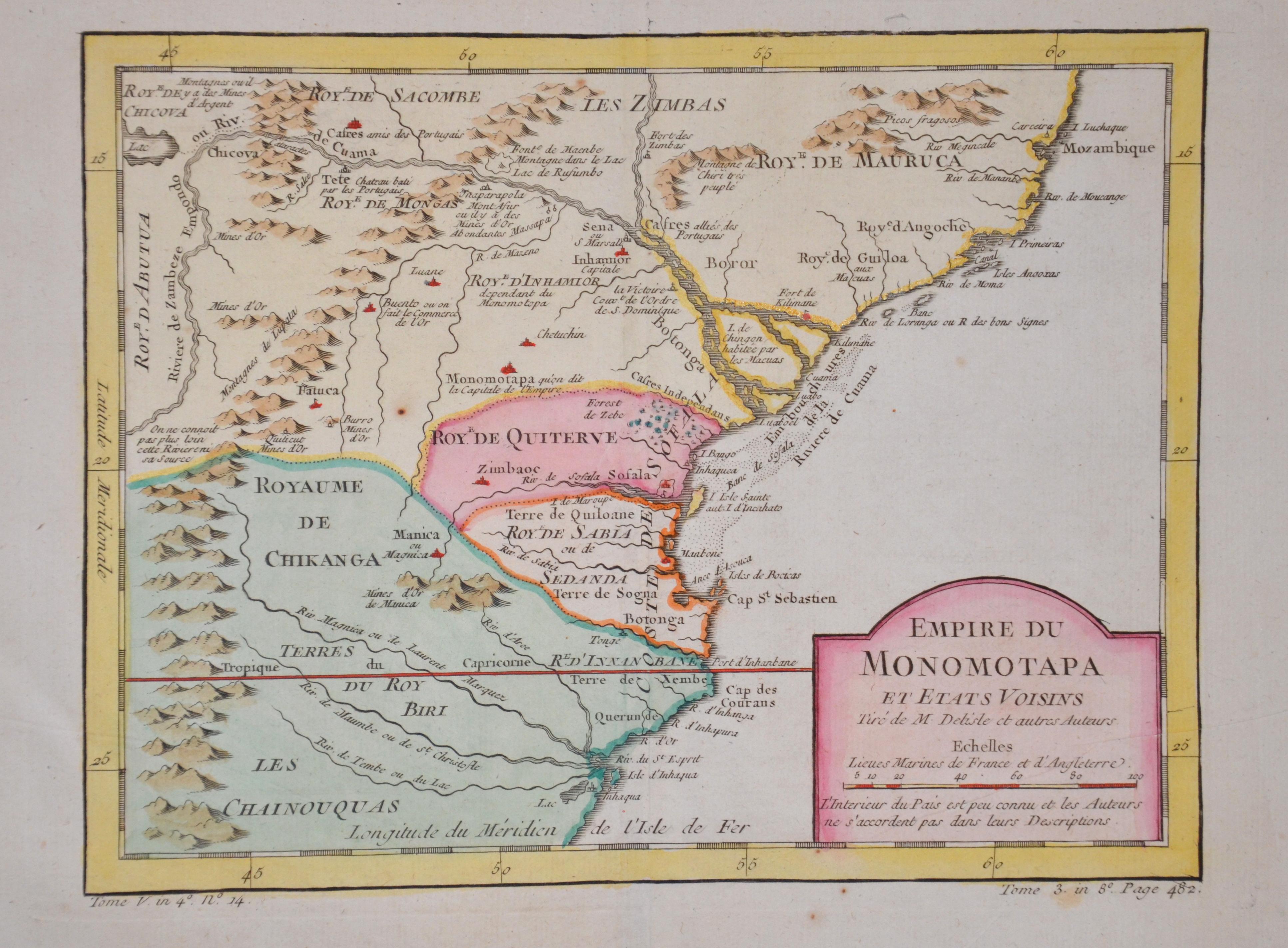 Bellin  Empire du Monomotapa et etats Voisins