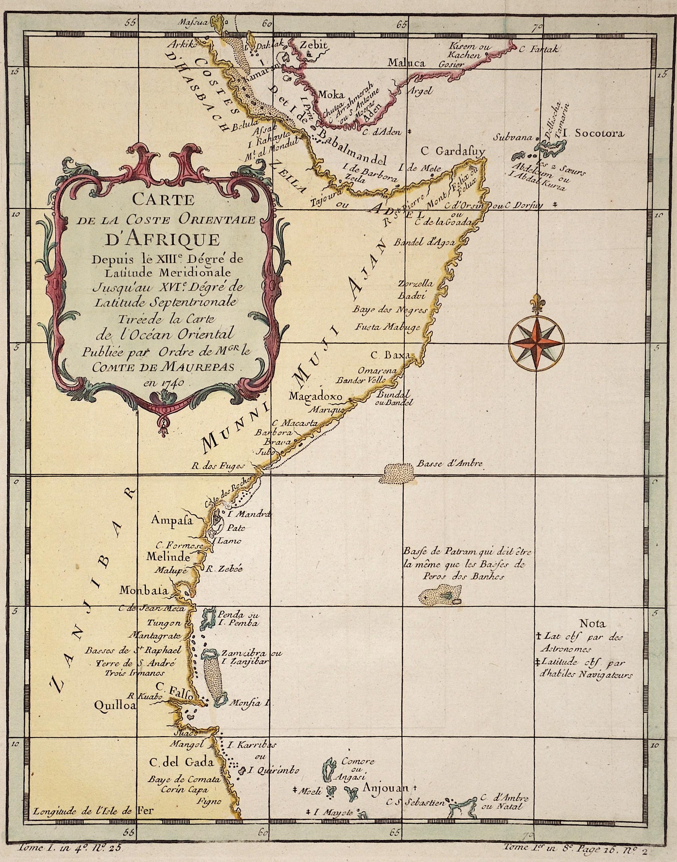 Bellin  Carte de la Coste Orientale d'Afrique…