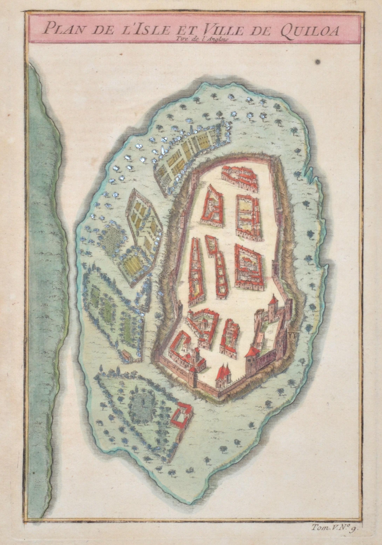 Bellin  Plan de l'Isle et Ville de Quiloa