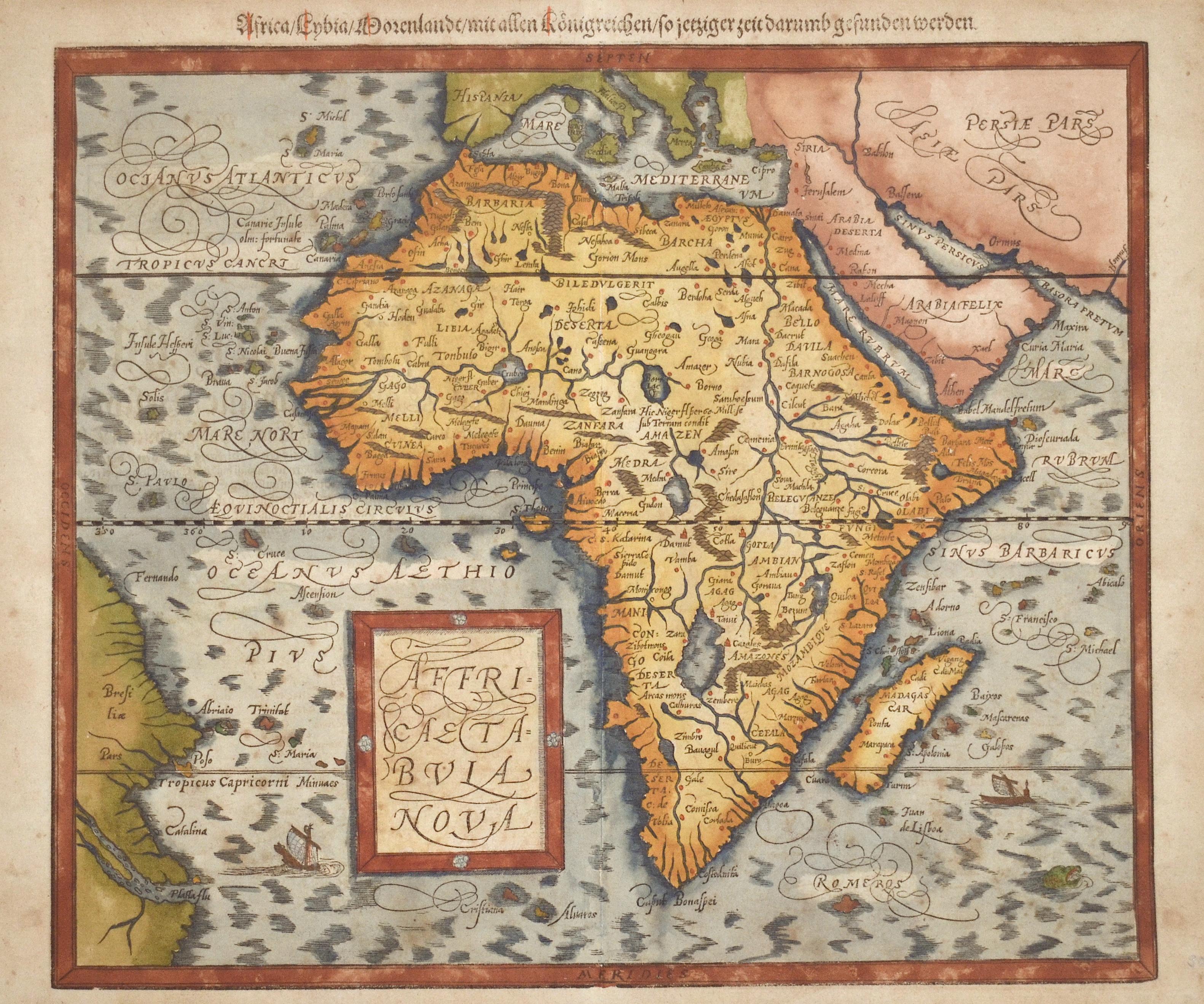 Münster Sebastian Africa / Lybia/ Morenlandt mit allen Königreichen so jetziger zeit darumb gefunden werden