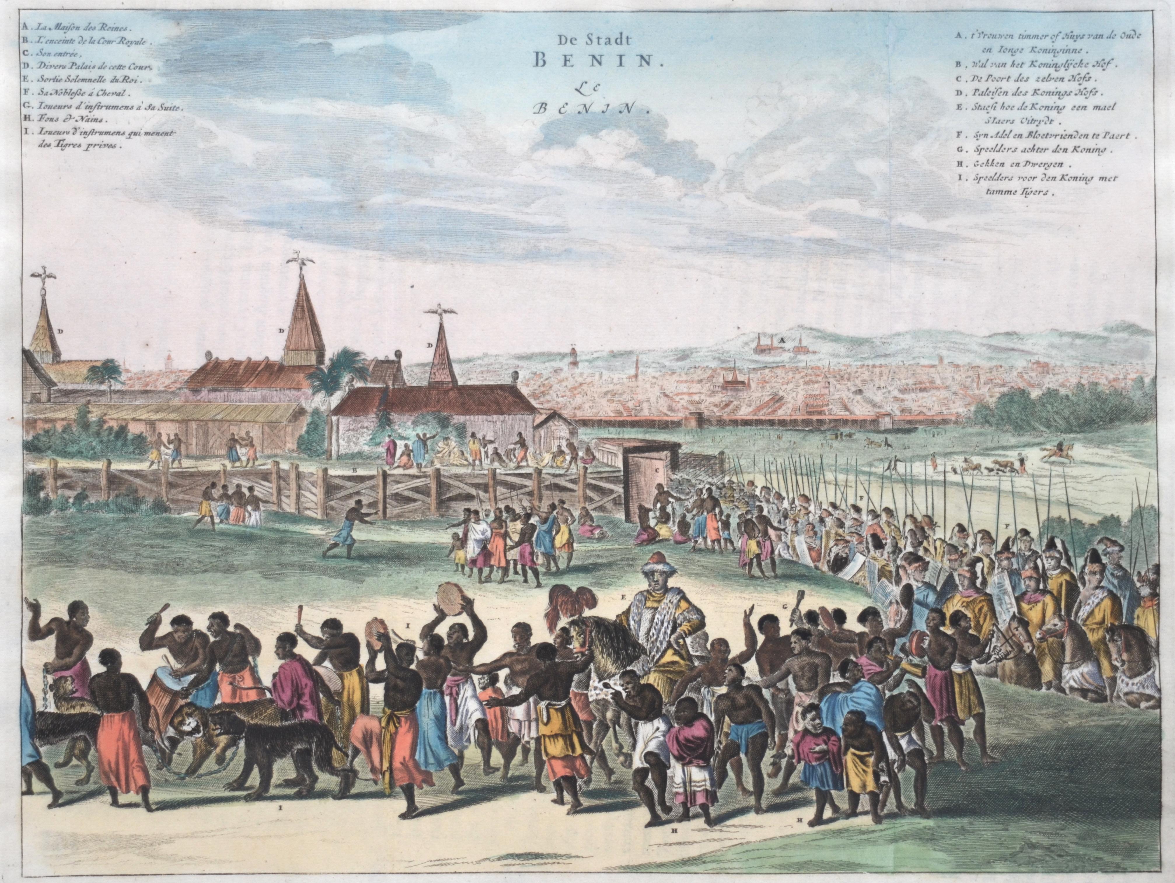 Dapper  De Stadt Benin. Le Benin.