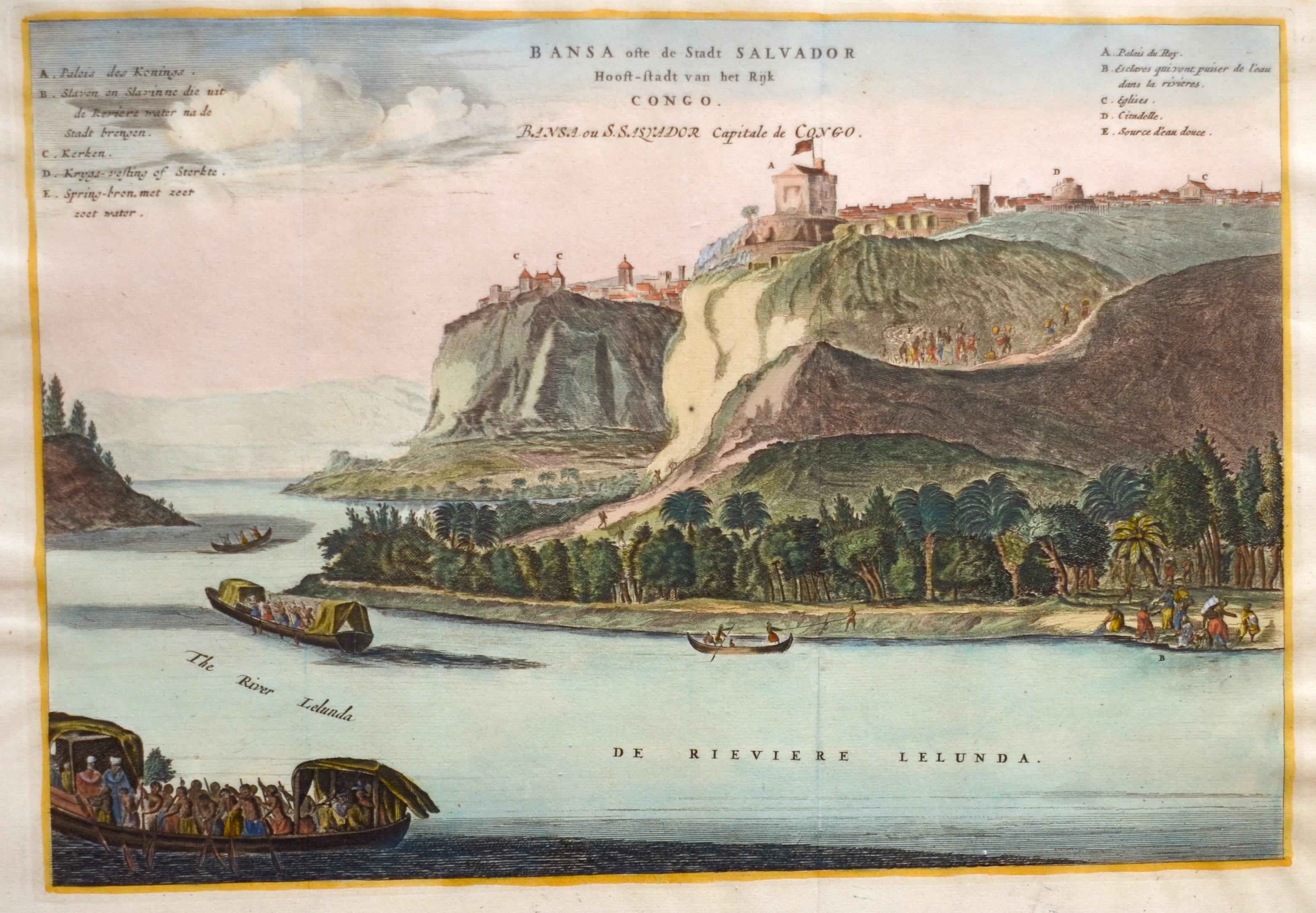 Dapper  Bansa ofte de Stadt Salvador Hooft-stadt van het Rijk Congo.