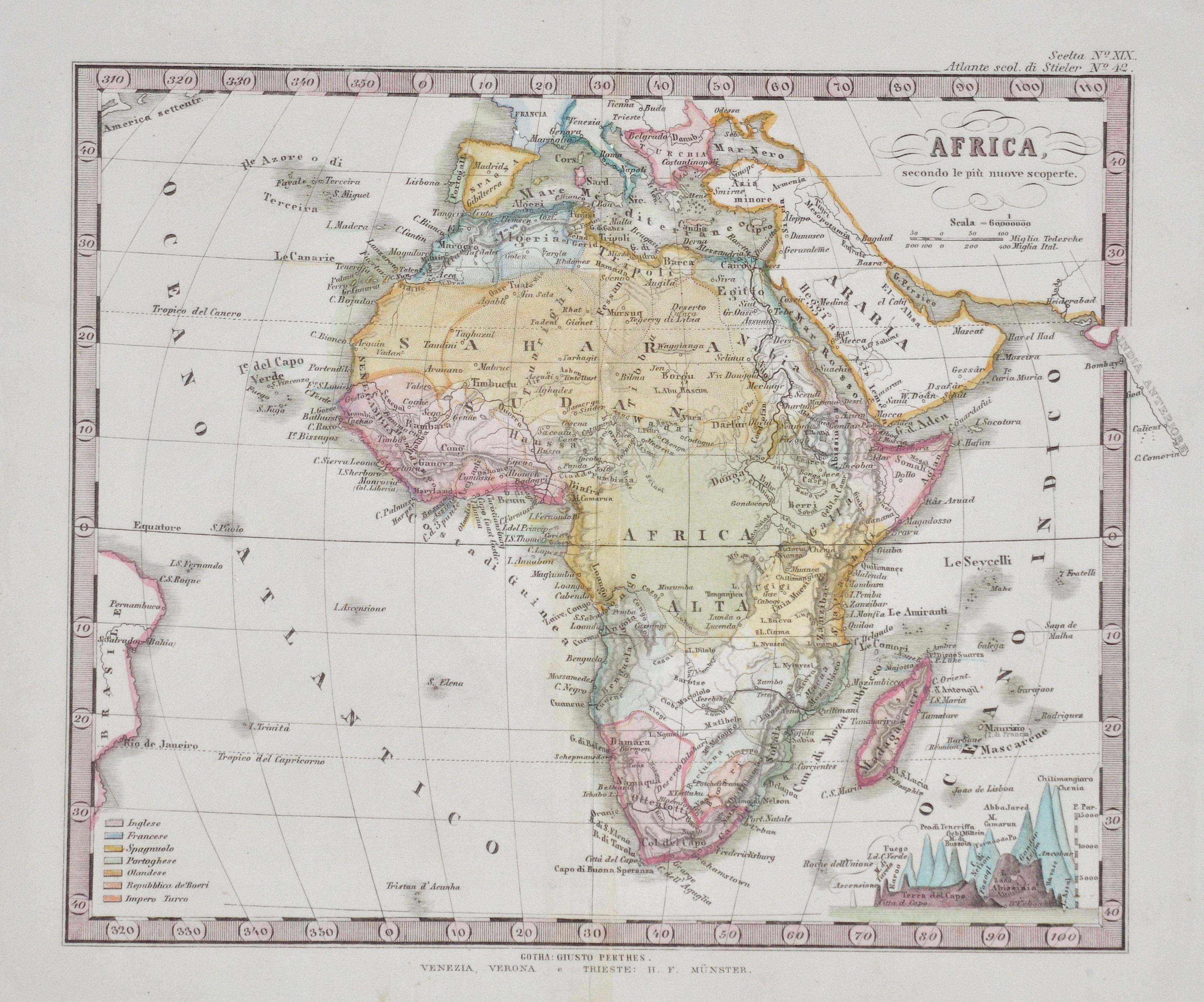 Perthes  Afrika nach den neuesten Entdeckungen