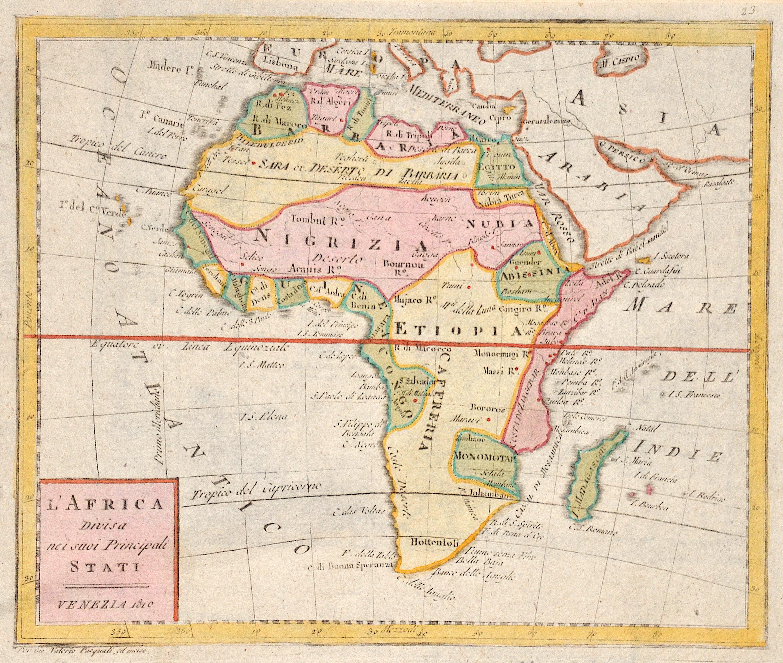 Pasquali Gio Valerio L'Africa Divisa nei suoi Princiupali  Stati