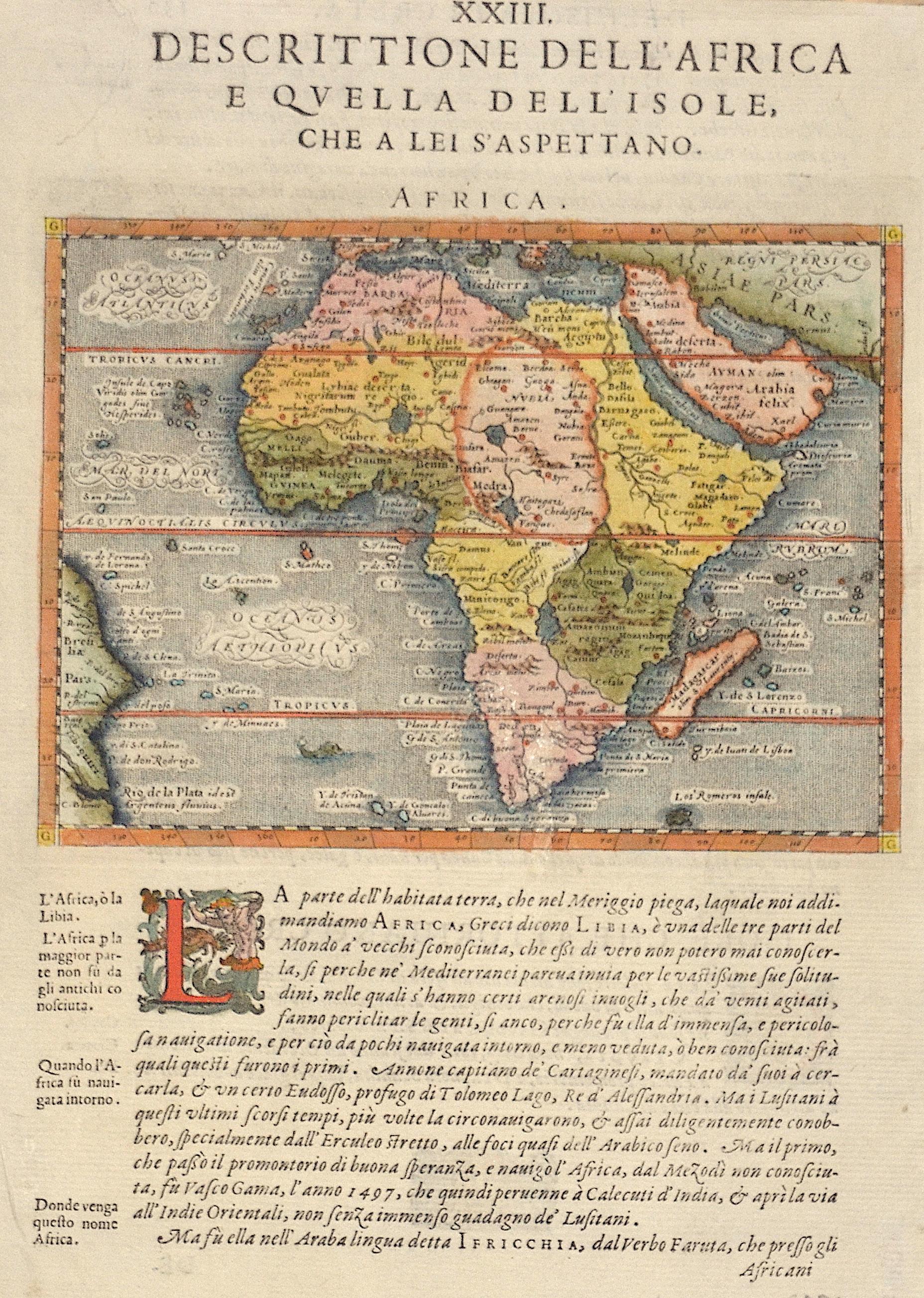 Magini  XXIII. Descrittione dell' Africa e Quella dell' Isole, che a lei S'Aspettano. / Africa.