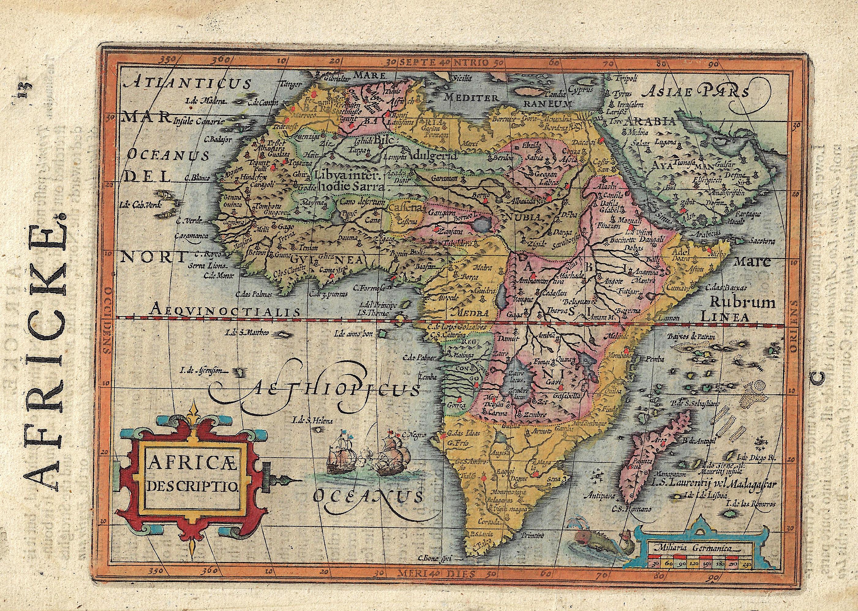 Sparke Michael Africke. / Africae descriptio.